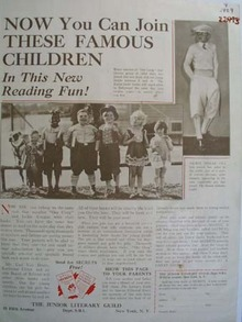 Literary Guild Our Gang And Jackie Coogan Ad 1929