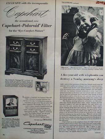 Capehart Television Set 1954