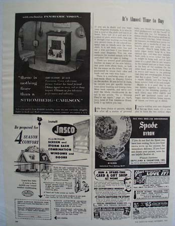 Stromberg Carlson TV Nothing Finer Ad 1953
