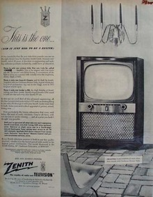 Zenith TV This Is The One Ad 1954