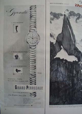 Girard Perregaux Watch Ad 1953