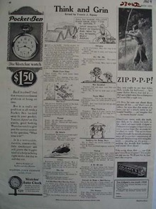 Westclox Pocket Ben Back to School Ad 1929