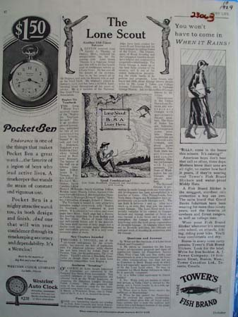 Westclox Pocket Ben In A Circle Ad 1929