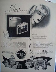 Ronson Lighters The New Look Ad 1948