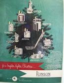 Ronson Lighter Christmas Ad 1949