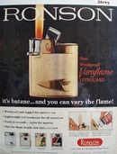 Ronson Lighter Windproof Varaflame Ad 1960