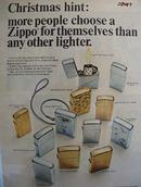 Zippo Lighter Christmas Ad 1956