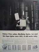 Zippo Lighter MacKinlay Kantor Ad 1961