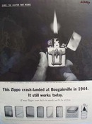 Zippo Lighter Crash Landed At Bougainville Ad 1962