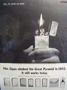 Zippo Lighter Climbed Great Pyramid in 1945 Ad 1962
