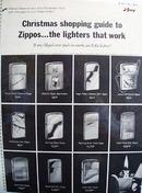 Zippo Lighter Christmas ad 1964