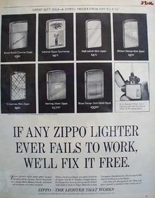 Zippo Lighter W C Kessler Birthday Gift Ad 1965