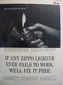 Zippo Lighter Charles E Standard Ad 1965