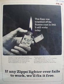 Zippo Lighter Charles W Croser Ad 1966