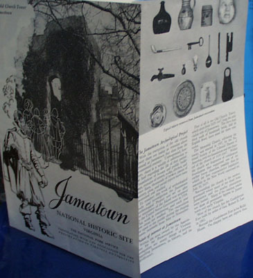 Jamestown National Historic brochure 1946
