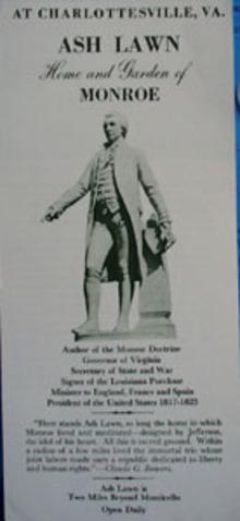 Ash Lawn Brochure at Charlottesville VA