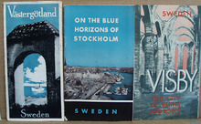 1930 Sweden Booklets featuring Visby