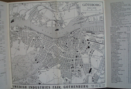 1930 Sweden Booklet Gothenburg that has nice ship litho