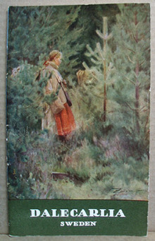 1930 Sweden Booklet Dalecarlia that has nice Cow girl