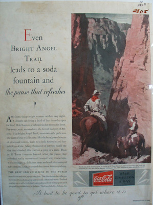 Coca Cola Bright Angel Trail Ad 1929