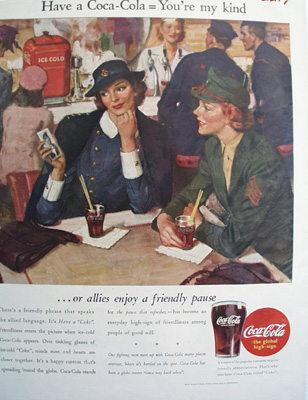 Coca Cola Our Allies Enjoy A Coke Ad 1944