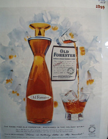 Old Forester Christmas Ad 1958