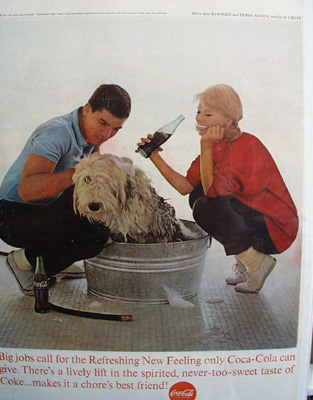 Coca Cola And Shampooing The Dog Ad 1963