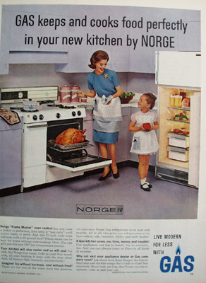 American Gas Co. And Norge  Range And Frig Ad 1962
