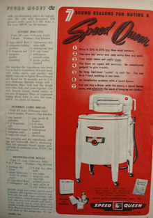 Speed Queen Washer Seven Reasons For Buying Ad 1952
