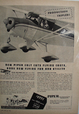 Piper Aircraft Production Tripled Ad 1961
