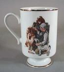 Norman Rockwell pedestal mug 1981