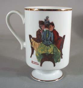 Norman Rockwell pedestal mug, Gossip, 1981