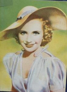 Priscilla Lane film star card.