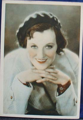 Gracie Fields 1930s postcard ,