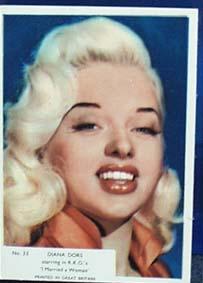 1940s movie card Diana Dors no 33,