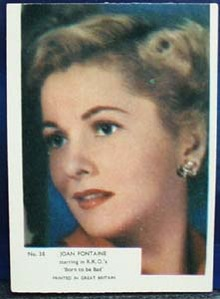 1940s movie card Joan Fontaine no 38