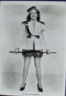 Gloria Blondell movie card, Real photograph no 2