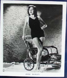 Film and stage beauty Anne Shirley and lounge chair Card