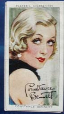 1938 Constance Bennett Film Star Card,