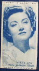 1949 Myrna Lov movie card