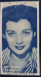 1949 Gail Russell movie card