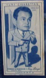 1949 Characture Edward G Robinson movie card