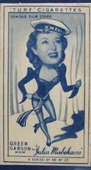 1949 Characture Greer Garson movie card