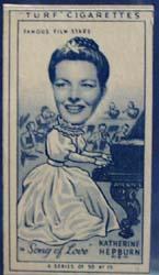 1949 Characture Katherine Hepburn movie card