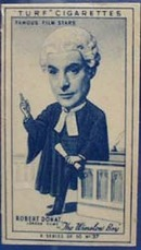 1949 Characture Robert Donat  movie card