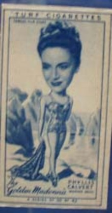 1949 Characture Phyllis Calvert movie card