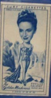 1949 Characture Phyllis Calvert movie card