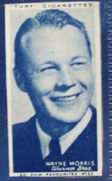1949 Wayne Morris movie card