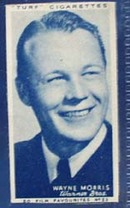 1949 Wayne Morris movie card