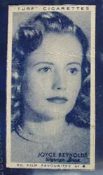 1949 Joyce Reynolds movie card
